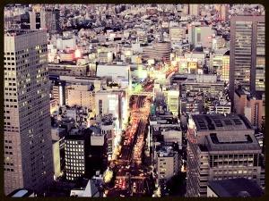 Looking down on Tokyo